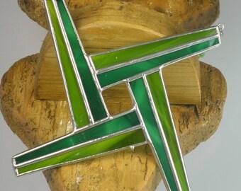 St. Brigid's Cross Celtic Stained glass Suncatcher Window Hanging   Brigit Brigids Wicca   Irish Ornament Heritage Gift Handmade in Ireland