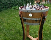 Wine Barrel Beverage Chiller with Stand