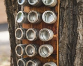 Banded Barrel Spice Rack- 15 Cans