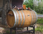 Napa Wine Barrel Ice Chest/Cooler with Stand