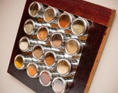 Wine Infused Barrel Spice Rack
