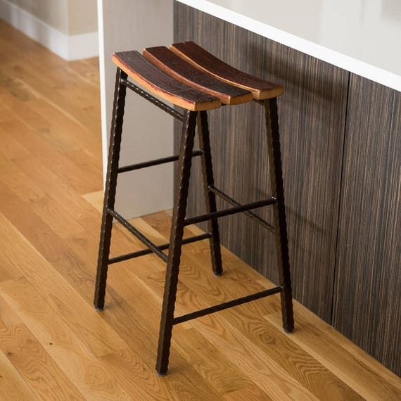 Admirable Counter Height Wine Barrel Stave Saddle Stool With Metal Base Pdpeps Interior Chair Design Pdpepsorg