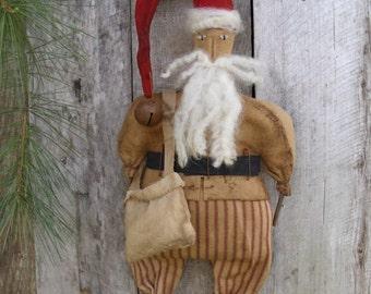 Primitive santa/primitive pattern/primitive doll/primitive christmas/ PINELANE NICHOLAS Santa Pattern-Instant Download