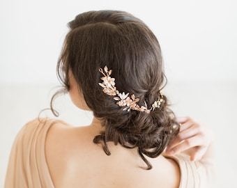 Gold Bridal Headpiece,  Crystal Bridal Hair Vine, Gold Wedding Hair Vine, Bridal Hairpiece, Gold Hair Vine