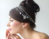 Bridal Hair Accessory, Crystal Thread Hair Wrap, Wedding Head Piece, Wedding Hair Accessory, Bridal Headband