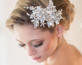 Wedding Lace Headpiece, Bridal Hair Accessory, Lace Headpiece,