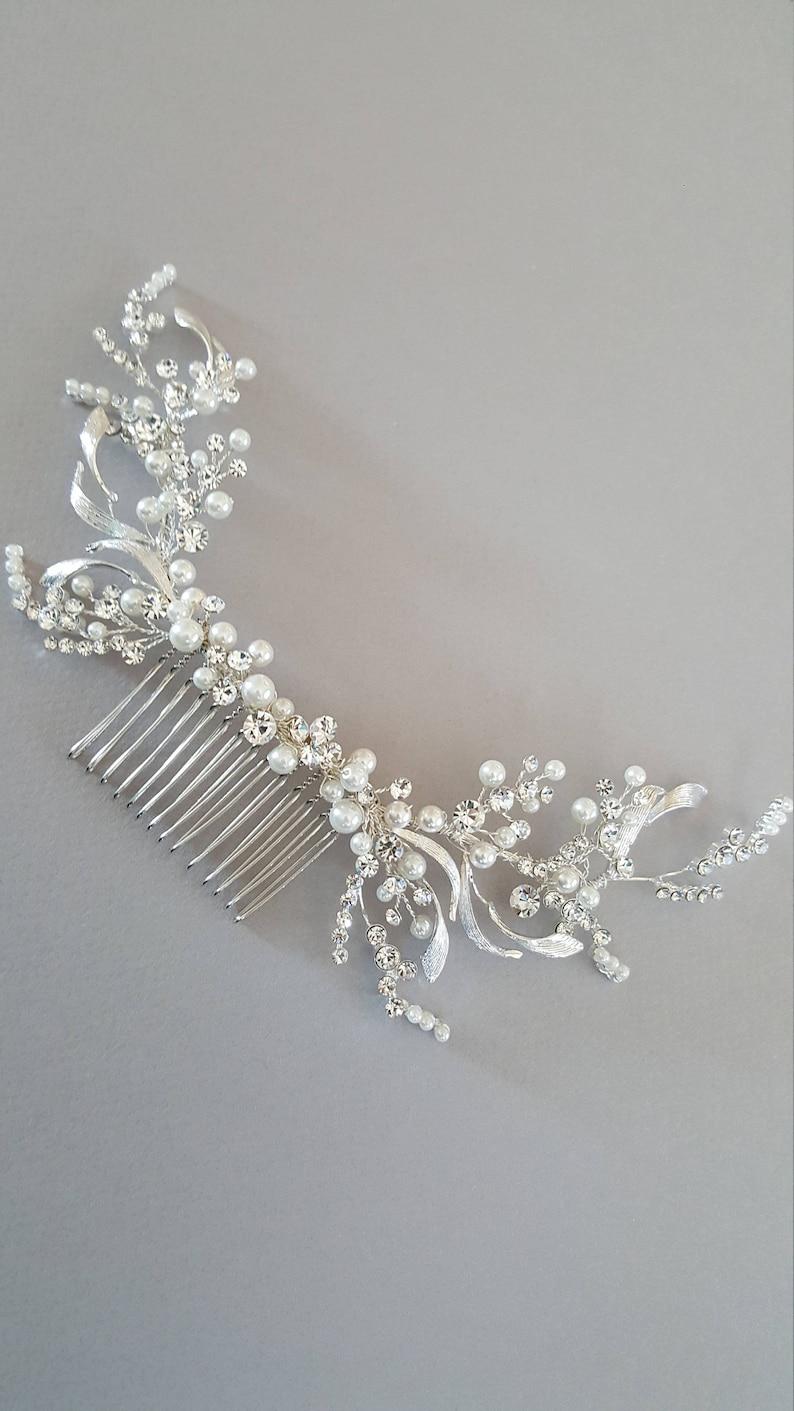 Crystal Bridal Hair Accessory Pearl Wedding Hair Comb Gold Wedding Hair Comb Gold Crystal Bridal Hair Accessory