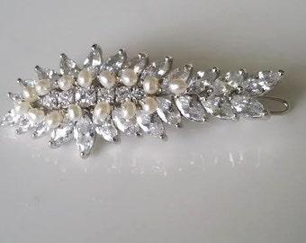 Wedding Hair Clip, Wedding Hair Accessory, Bridal Hair Clip, Crystal Hair Clip, Wedding Headpiece
