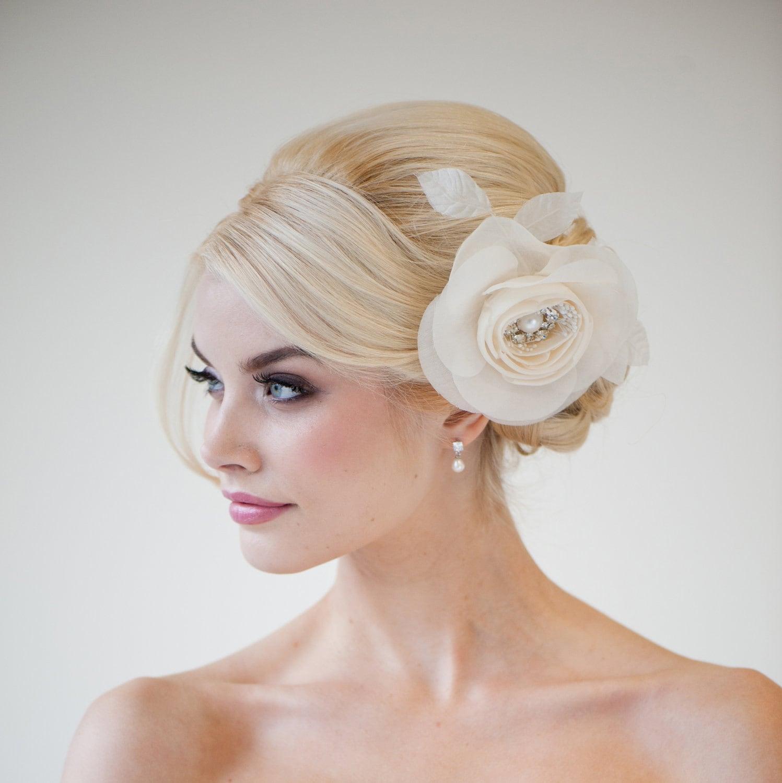 Flowers For Wedding Hairstyles: Wedding Hair Accessory Silk Flower Hair Comb Bridal Hair
