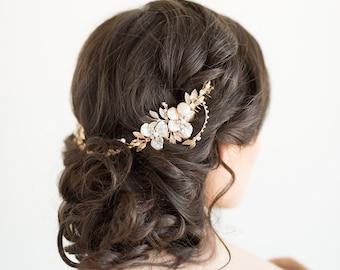 Wedding Hair Comb, Bridal Hair Accessory,  Crystal Hair Swag, Wedding Hair Vine