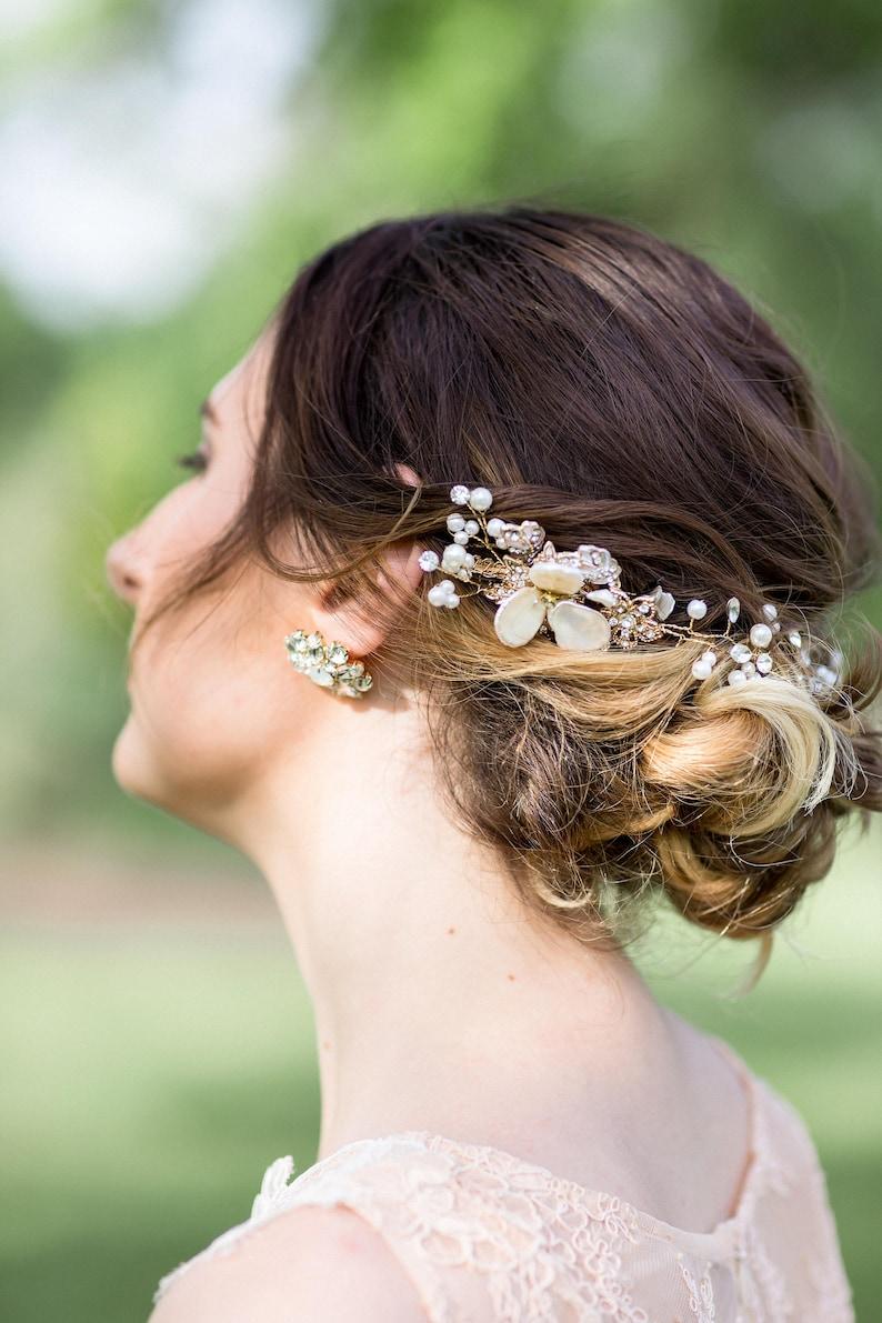 Wedding Hair Vine Pearl Crystal Hair Vine Bridal Hair Accessory Bridal Headband Bridal Headpiece