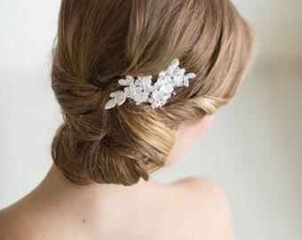 Zierliche Spitze Haare kämmen, Blumen Braut Haarnadel, Hochzeit Haarschmuck, Spitze Braut Kamm, Hochzeitshaarkamm