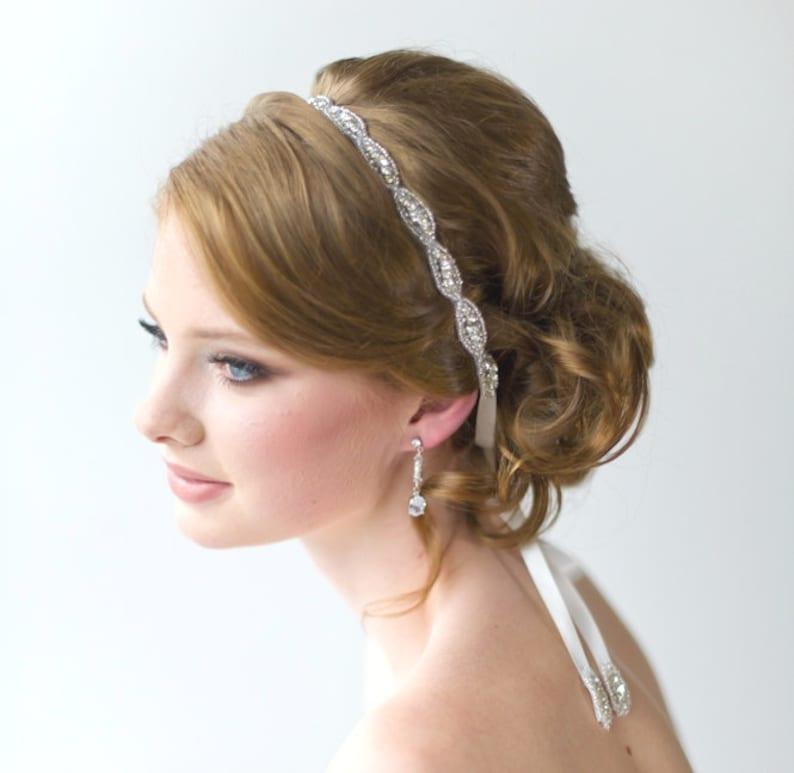 Wedding Headpiece Bridal Beaded Headband Bridal Rhinestone  3b53c5102ad