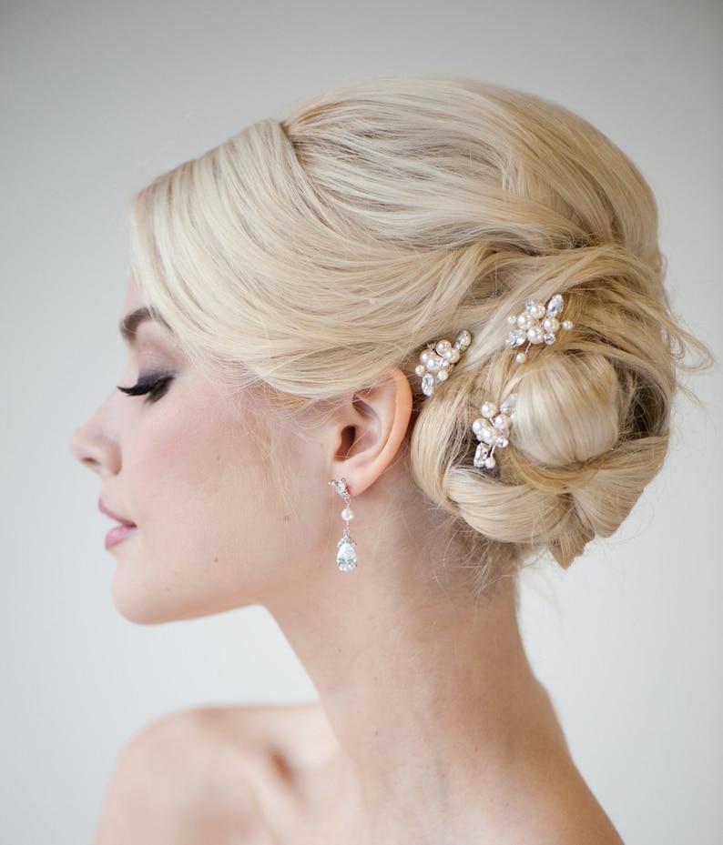 Pearl Bridal Hair Pins Wedding Hair Pins Real Freshwater image 1