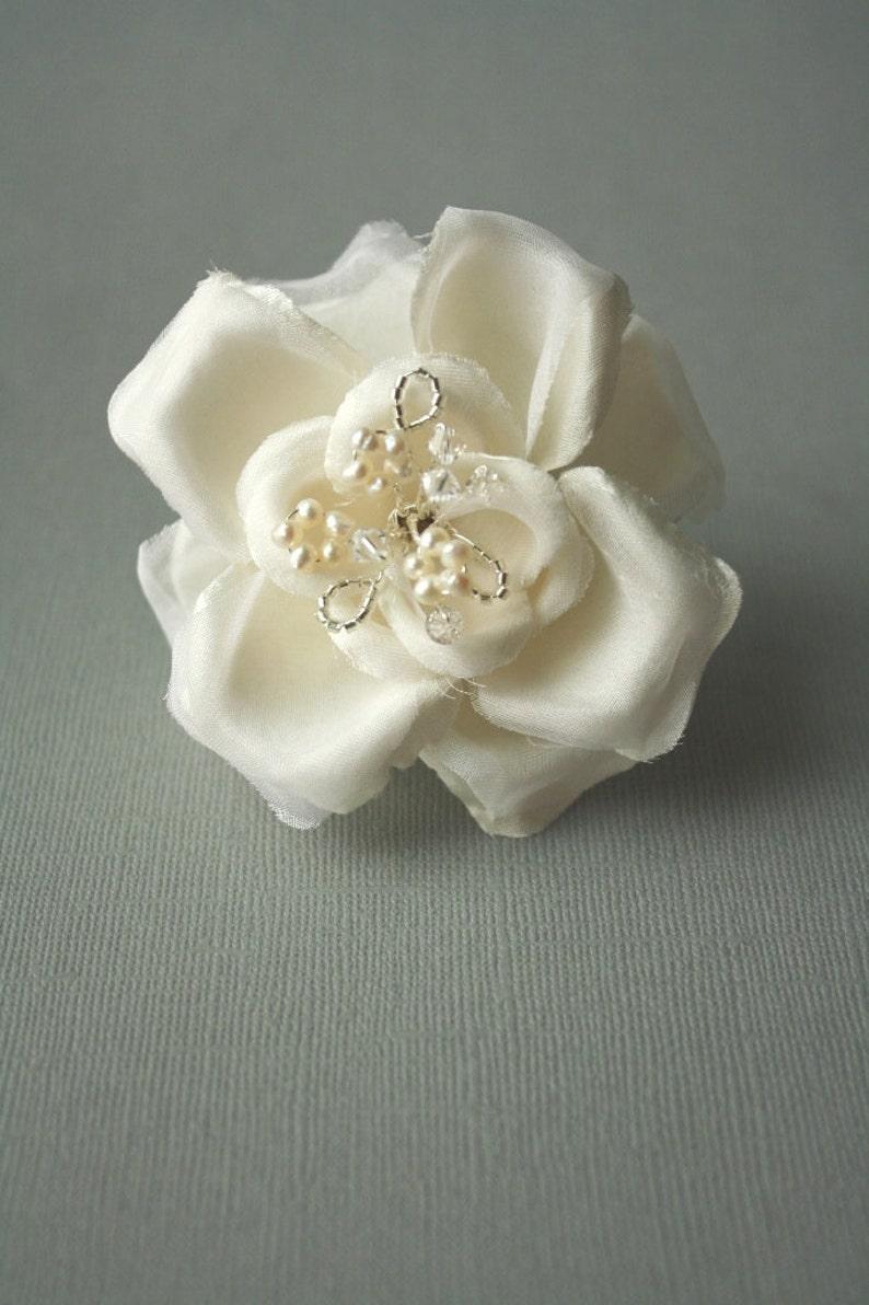 Silk Flower Hairpin Wedding Hair Accessory Bridal Hairpin ELLA