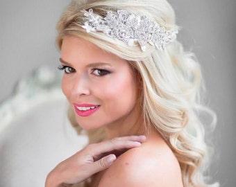 Hochzeit Haarkamm, Strass Braut Kopfschmuck, Braut Kopfschmuck Spitze, Spitze Braut Haar-Accessoire