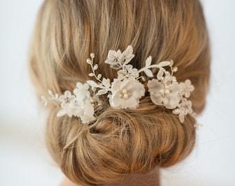 Wedding Hair Pins, Bridal Hair Pins, Flower Wedding Hair Pins, Rose Gold Hair Pins, Gold Hair Pins