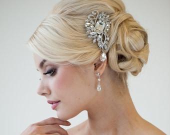 Wedding Hair Comb, Bridal Hair Comb, Crystal Hair comb, Wedding Headpiece, Bridal Hair Brooch, Decorative Comb - PIA