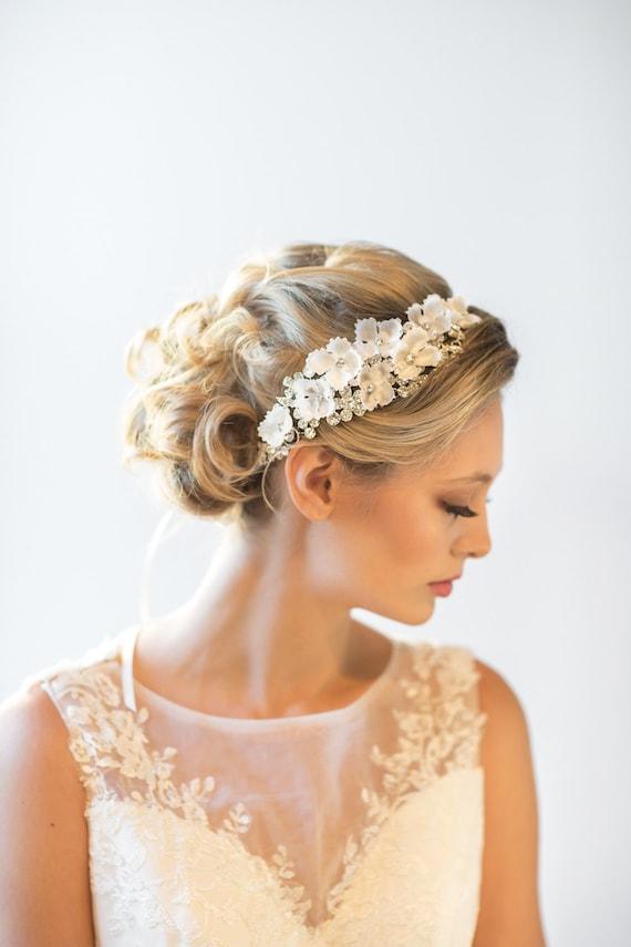 Hochzeit Kopfschmuck Brautschmuck Braut Blumen Haarschmuck Etsy