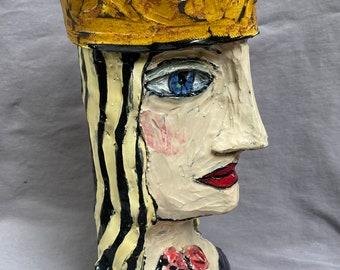 Queen head vase