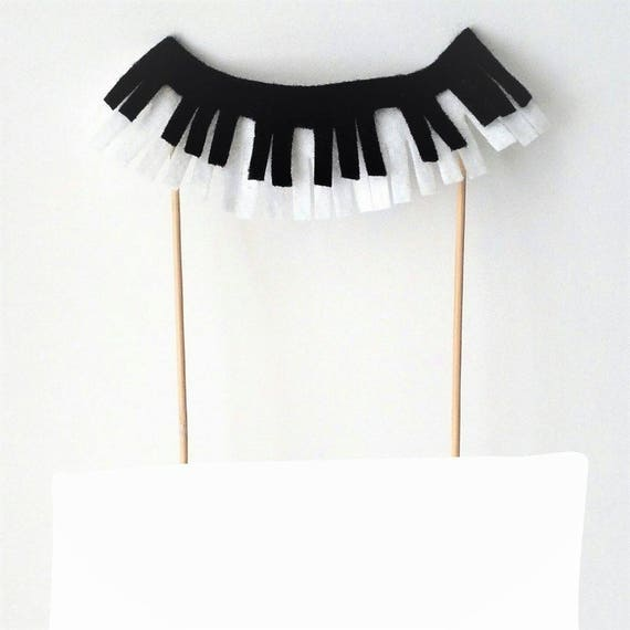 Piano Cake Topper Fabric Cake Banner Music Cake Decor Etsy