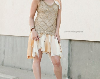 as told by ginger . tattered dress - S -