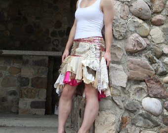 chasing dawn . tattered skirt - M -