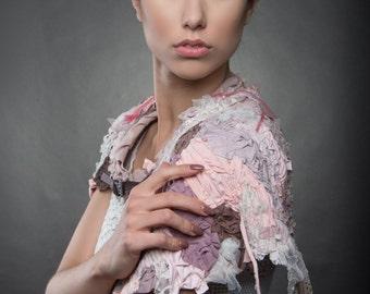 woodsmoke . artwear capelet XS - S -