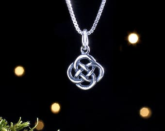 Sterling Silver Tiny Celtic Love Knot - (Charm Only OR Necklace)
