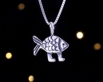 Darwin fish etsy sterling silver darwin fish pendant only no chain clearance aloadofball Image collections