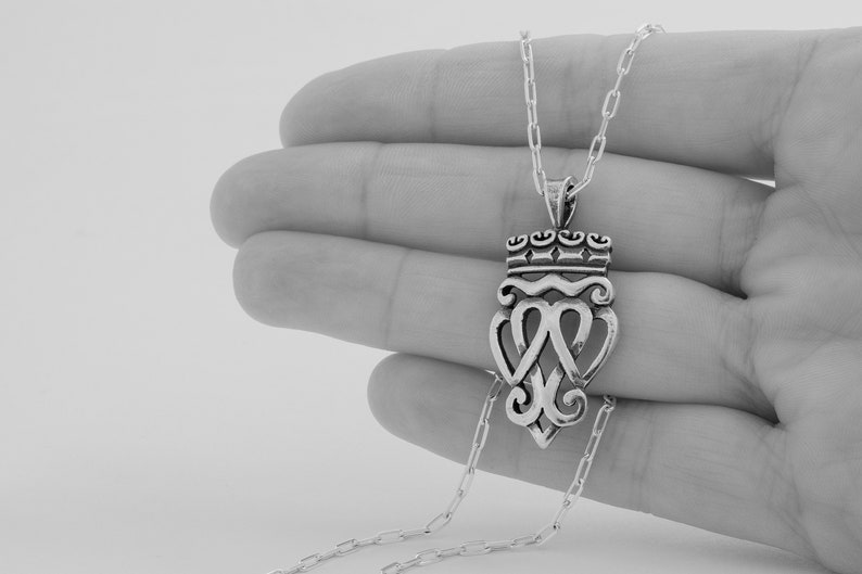 Sterling Silver Irish Claddagh Pendant Only or Necklace