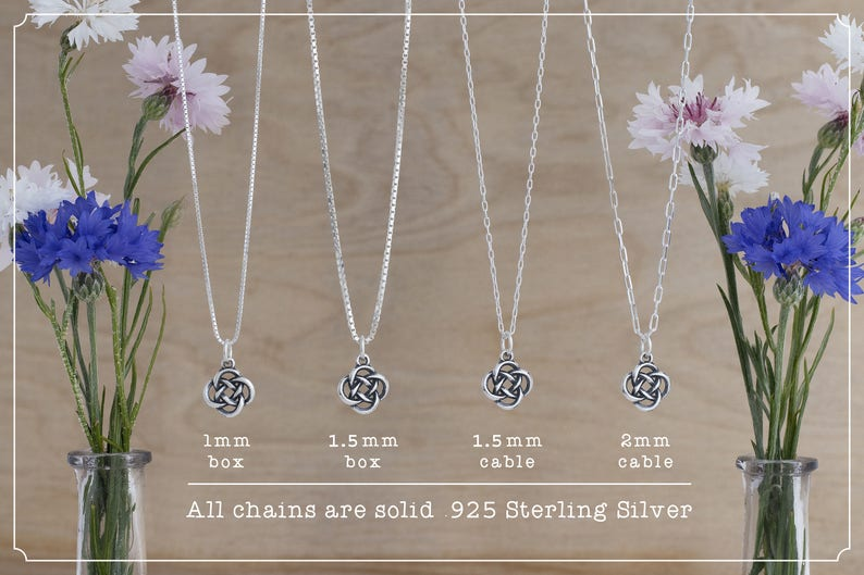 Charm Only or Necklace Double Sided - Sterling Silver Celtic Anchor Cross Small