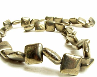 Pyrite Pirite Square 12 mm Beads 5 Beads Necklace Bracelet Earring Jewelry Supply #105
