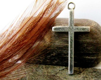 Christianity Religious Sterling Silver Cross Charm Sterling Cross Pendant Necklace  Pendant Jewelry Supply