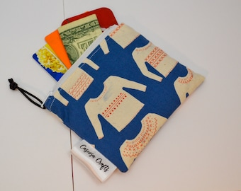 Card Wallet, Notion Pouch, Birthday Gift for Mom Under 20, Stocking Stuffer for Her, Knitting Bag, Cash Pouch, Purse Organization, Money Bag