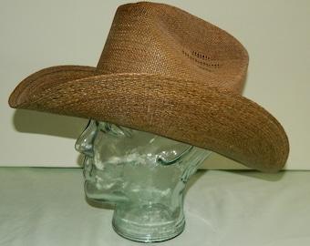 Size 7 40s 50s Calgary Straw Cowboy Tall Crown Rockabilly Old West Conforma  Brim