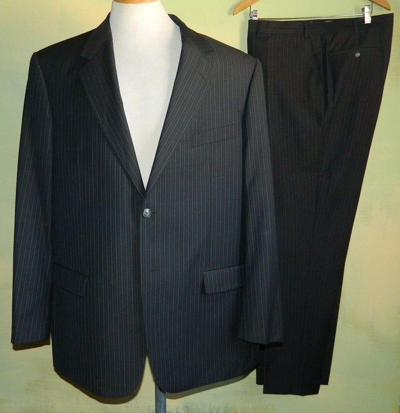 49 90s Sharkskin Suit Ted Lapidus Couture Paris Super Nobility 150s Lanificio Cerruti F.LLI DAL 1881  AAAAAA Fabric Pants 4333