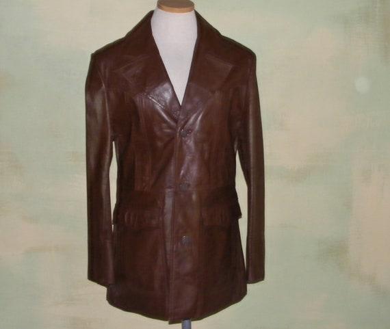 Pioneer Wear Leather Jacket Blazer Western Supple leather vintage 80/'s men/'s 46 Long Blazer Style Leather Jacket Retro Men/'s leather Jacket