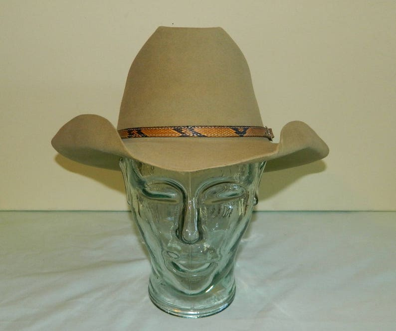 7bd33a82fff 7 50s Tan 3X Beaver Stetson Last Drop Embroidered Liner