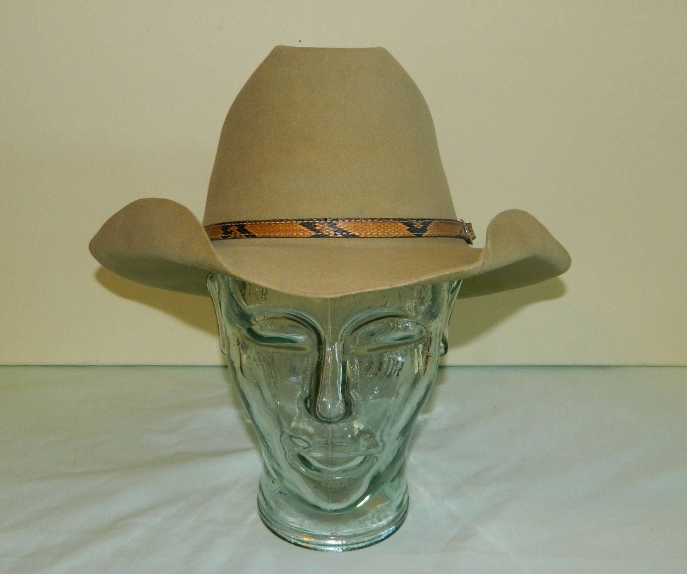 15af146bc41a2 7 50s Tan 3X Beaver Stetson Last Drop Embroidered Liner