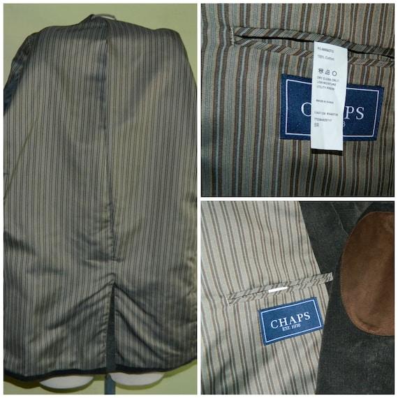 50 50R Ralph Lauren Chaps coton coton Chaps veste en velours côtelé cuir coude Patches joint foncé gris 595295