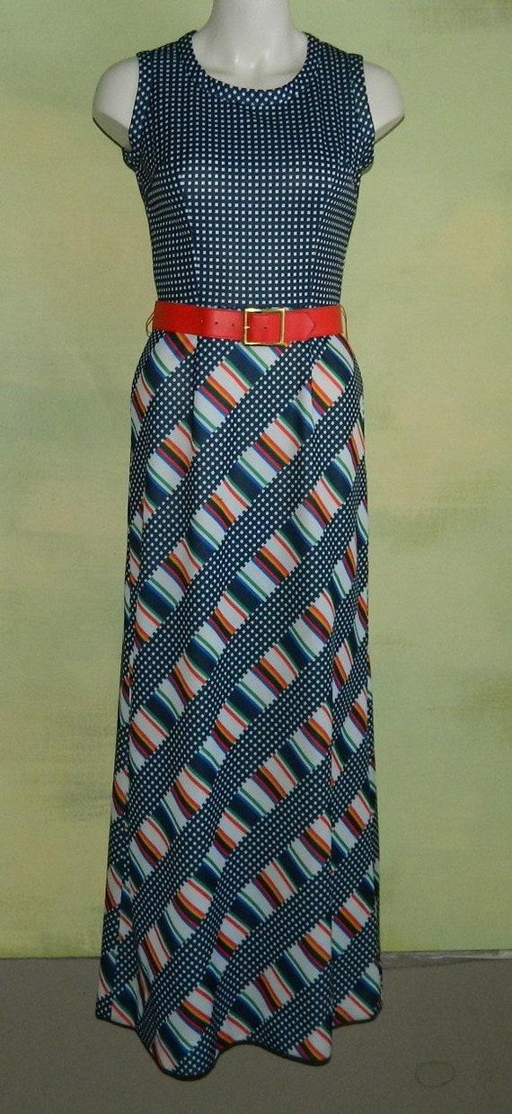 M 60s 70s Toni Todd Maxi Dress & Jacket Set Piece… - image 1