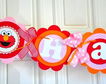 Elmo Happy Birthday Banner, Elmo Birthday Party, Elmo Birthday Party decorations