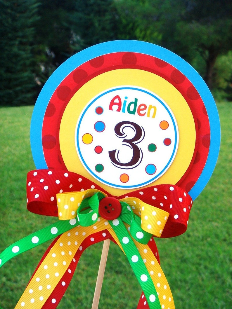 birthday centerpiece in primary colors luxurious xl