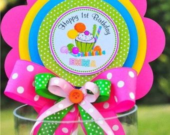 Candyland  Centerpiece, Deluxe Birthday Centerpiece, Candyland Birthday Party