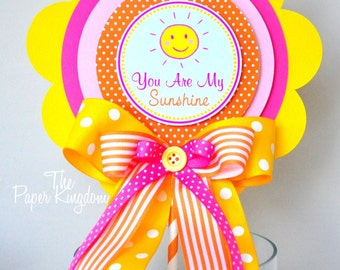 You Are My Sunshine Centerpiece, Deluxe Party Centerpiece, You are My Sunshine Birthday Party