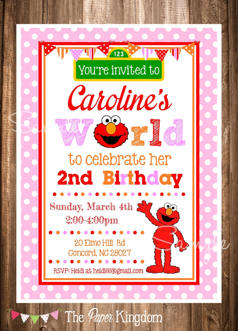 Elmo Invitations Girl Birthday Elmos