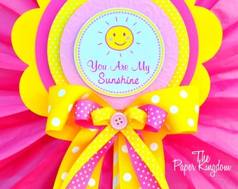 You Are My Sunshine Centerpiece, Deluxe Birthday Centerpiece, You are My Sunshine Birthday Party