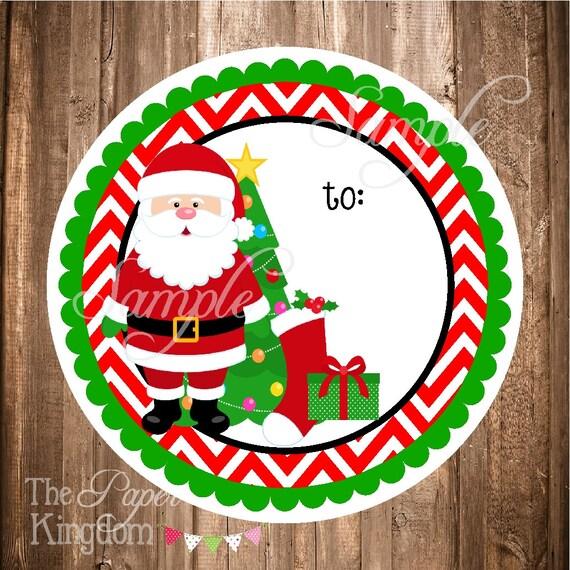 Printable Santa Gift Tags Instant Download File Santa