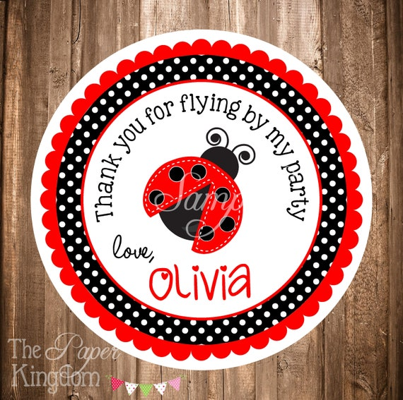 graphic about Personalized Gift Tags Printable titled Printable Ladybug Reward Tags, PRINTABLE Ladybug Stickers